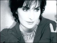 Enya: b/w photo from Only Time: The Collection