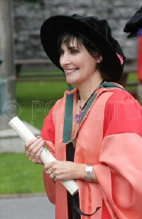Enya: With degree at Galway