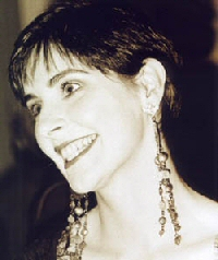 Enya: Sepia toned photo, head turned to left