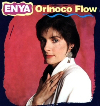 Enya in a pop-music magazine style photo promoting Orinoco Flow