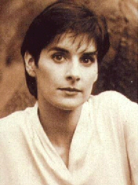 Enya: sepia toned press photo, possibly Celts era